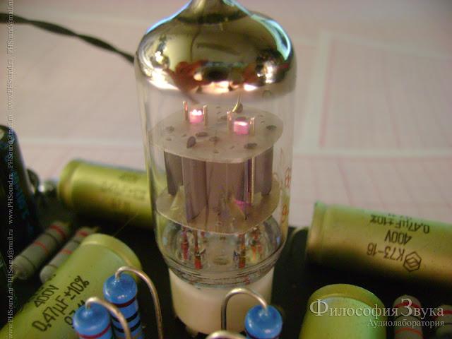 Включение предварительного усилителя на лампе 6Н1П