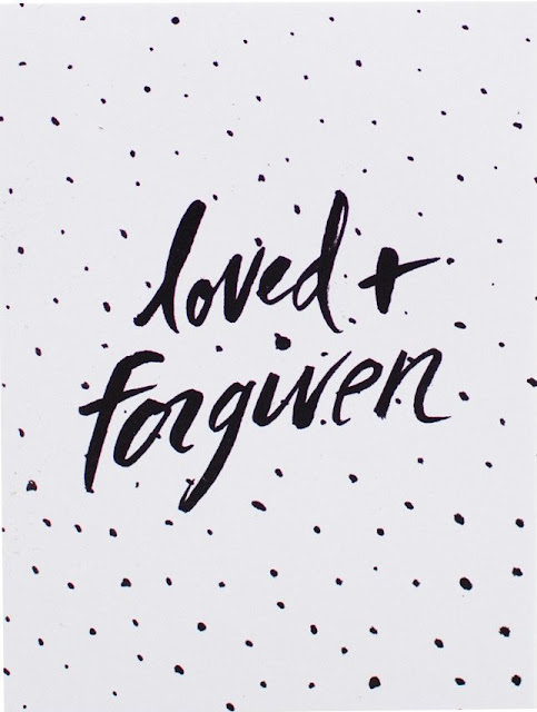 loved + forgiven sticker | Land of Honey