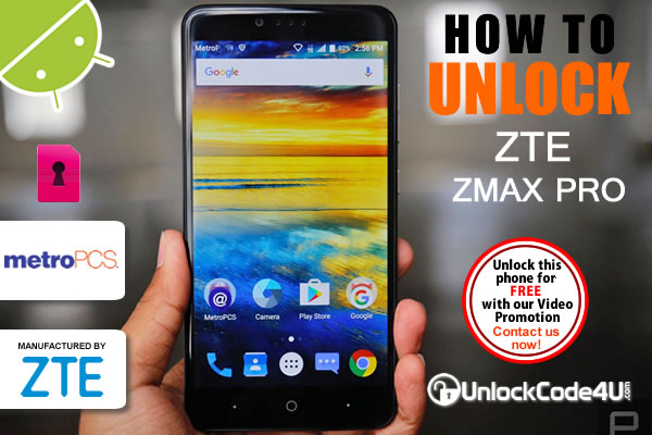Network unlock ZTE ZMAX Pro locked to MetroPCS