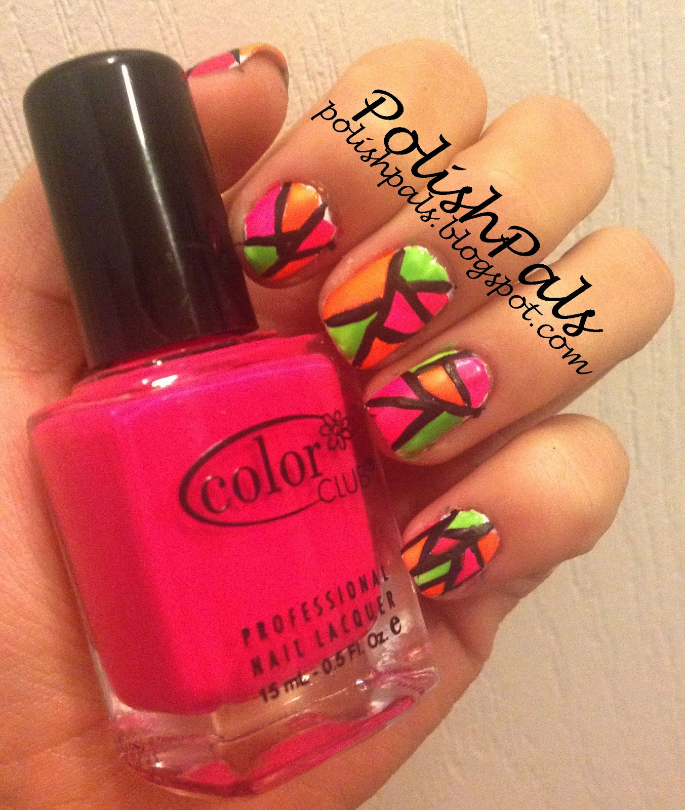 Blue Nail Polish Stained My Nails: Polish Pals: Stained Glass Nails Tutorial