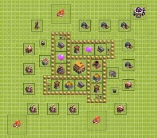 Base Clash of Clans Terbaik TH 5 Trophy
