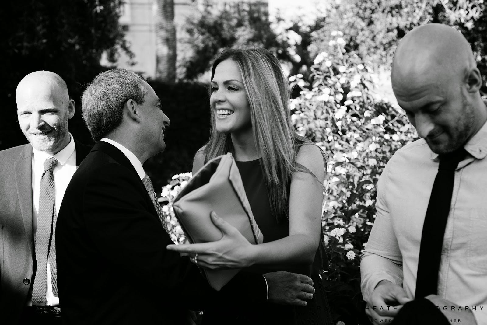 Wedding in Ravello town hall gardens