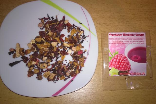 Früchtetee Himbeere Vanille.