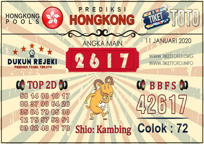 Prediksi Togel HONGKONG TIKETTOTO 11 JANUARI 2020