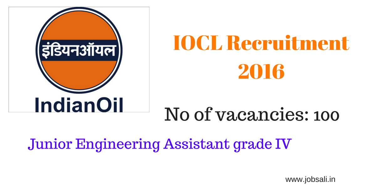 indian oil recruitment,Junor engineer Assistant Jobs