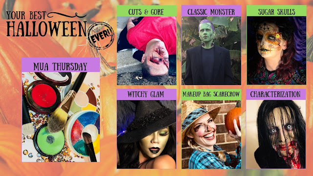 Your Best Halloween Ever, MUA Thursday Year One Recap, Halloween makeup tutorial, makeup artist Devin Przygoda