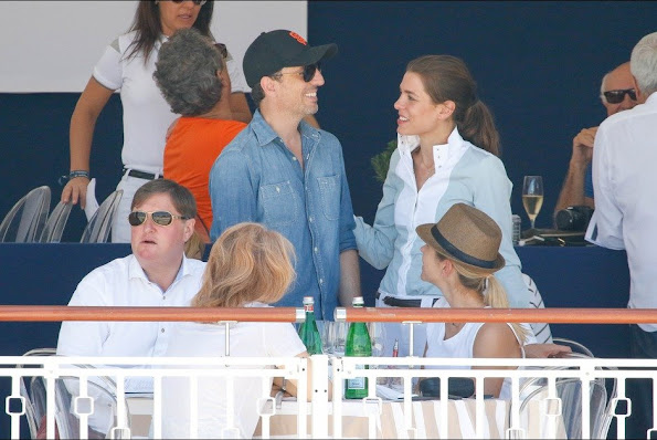 Charlotte Casiraghi and Gad Elmaleh attended the Longines Athina Onassis horse Show