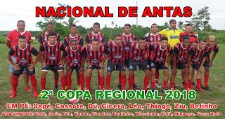 """Pela 2ª Copa Regional """"Nacional de Antas"""" ganha por 3 x 0  do Cruzeiro de Coité e continua lider da chave C ; Veja os gols."""