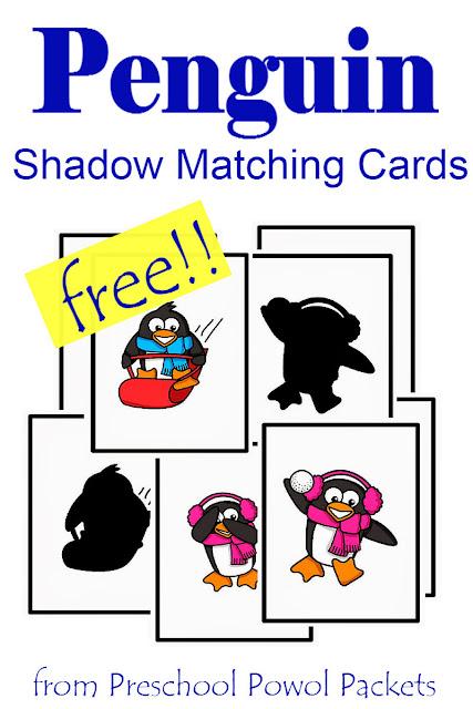 penguin preschool theme free penguin preschool shadow matching cards preschool 619