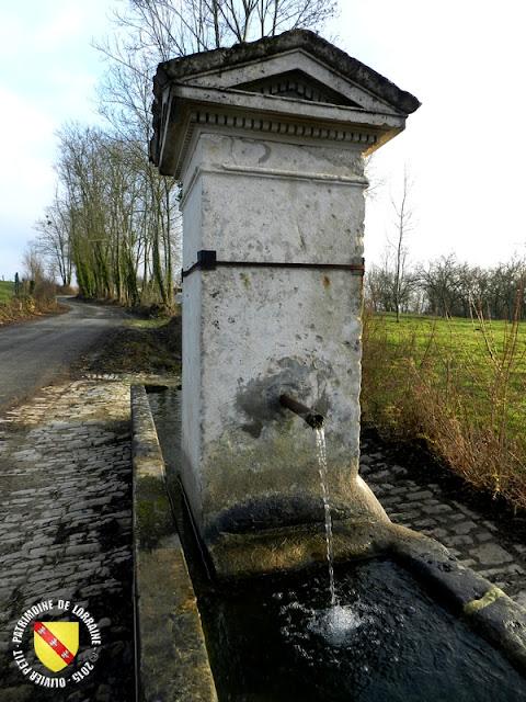 CREPEY (54) - Guéoir (XVIIIe siècle) et fontaine-abreuvoir (XIXe siècle)
