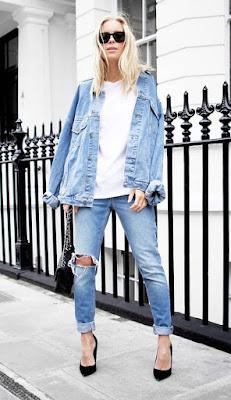 Look jeans com scarpin