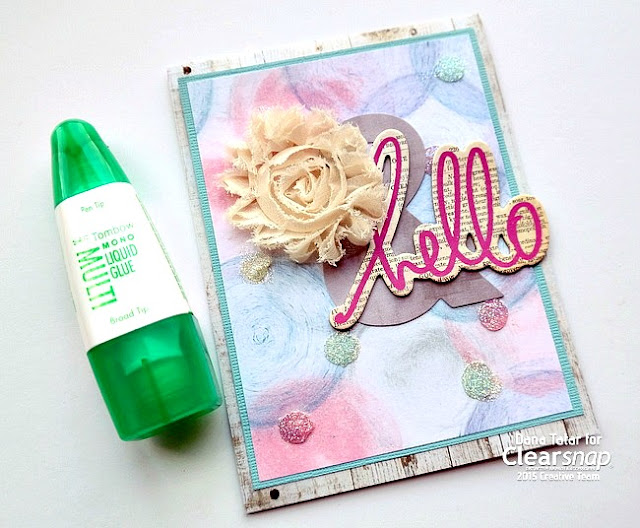 Securing Embellishments with Tombow Multi Mono Liquid Glue by Dana Tatar