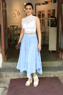 Bollywood Actress Sherlyn Chopra spotted at Juhu in Mumbai