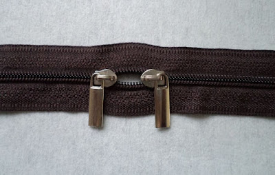 DIY double pull zipper