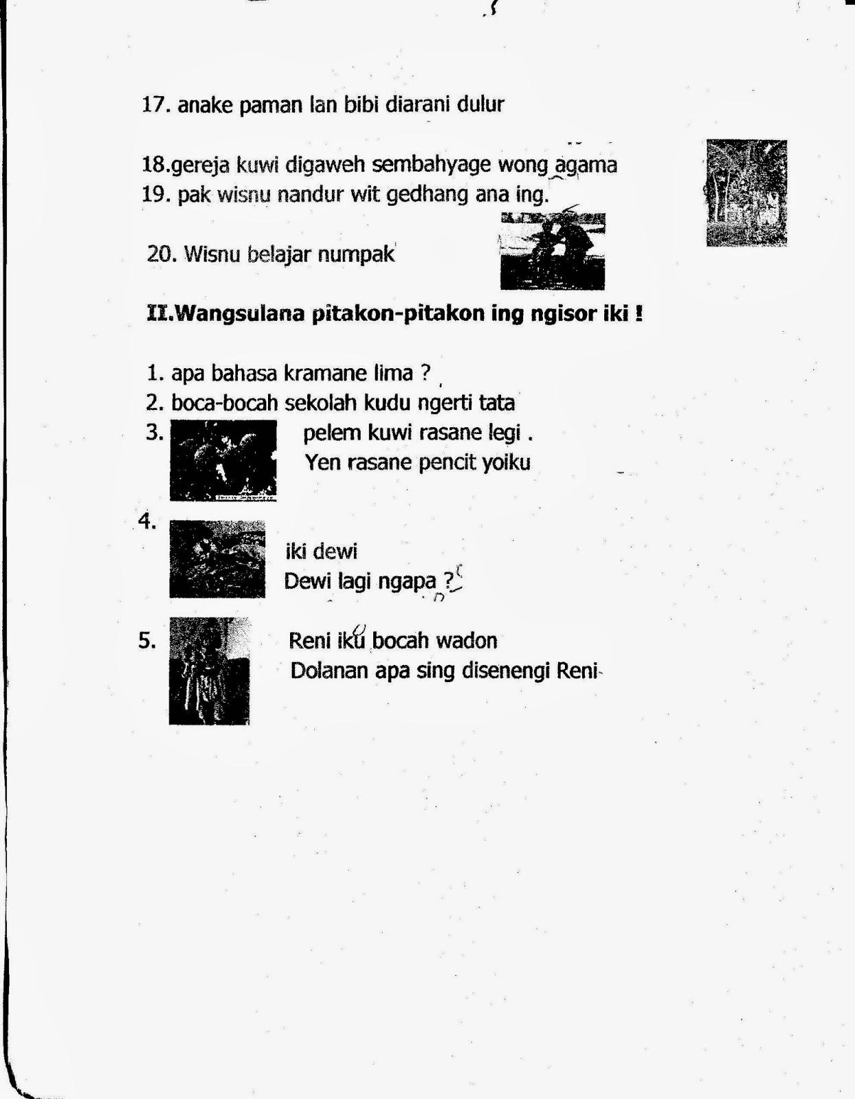 May 13, 2021 · detalhe kunci jawaban modul pengayaan bahasa inggris kelas 11 semester 2 pdf dapat kamu nikmati dengan cara klik link download. Pelajaran Bahasa Jawa Kelas 1 Sd Semester 2