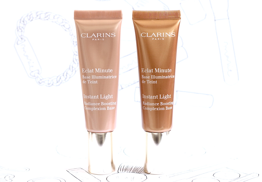 clarins eclat minute base illuminatrice de teint 04 apricot 05 golden bronze avis test swatch