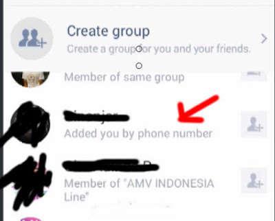 Cara tau orang yang Add Line
