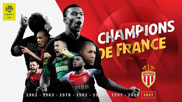 Monaco campeão da Ligue 1 2016-2017