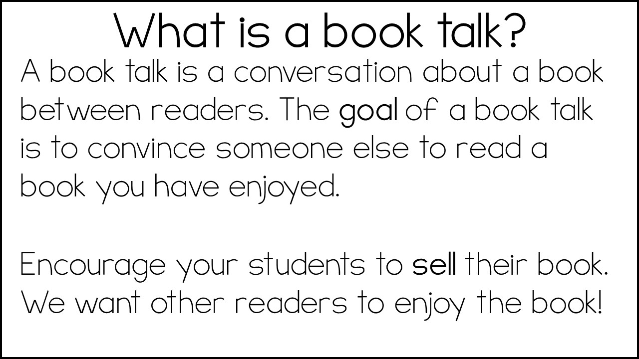 BOOKTALKS AND DISCUSSION GUIDES