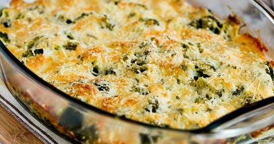 Kalyn's Kitchen®: Broccoli Gratin with Swiss and Parmesan