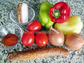 Ghiveci unguresc cu sunca si carnati - toate ingredientele pentru reteta