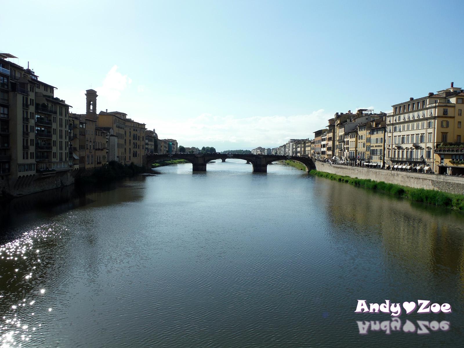 Andy與Zoe的旅行紀錄: 歐洲自助40天~佛羅倫斯(Firenze) 著名的地標之一 老橋(Ponte Vecchio)