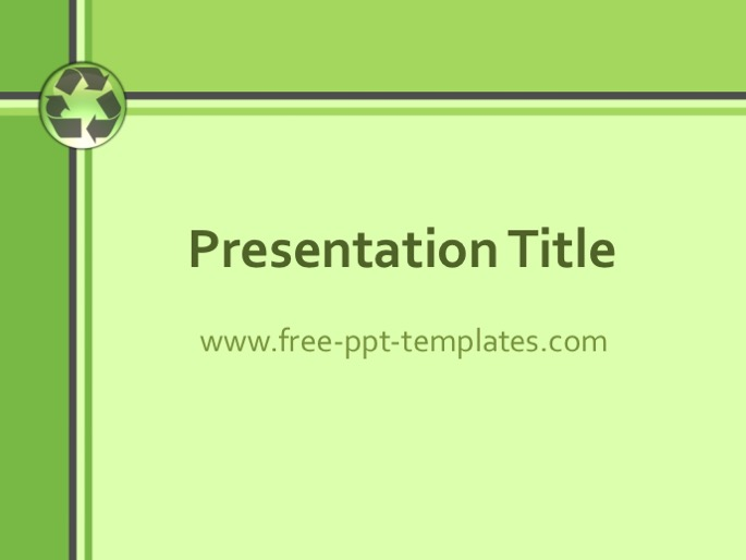 Recycling PPT Template - recycling powerpoint templates