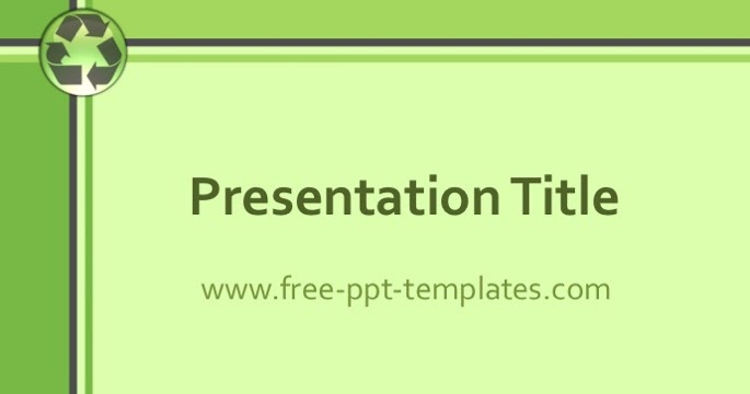 Free PowerPoint Templates - recycling powerpoint templates