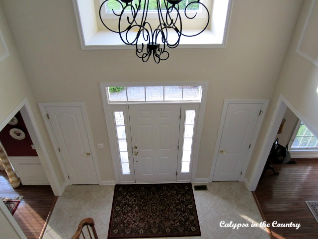 Foyer Before with tile floor