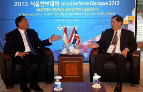 Menhan Sjafrie saat Seoul Defense Dialogue 2013