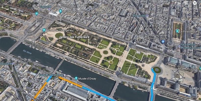 Jardim das Tulherias (Google Maps) - O que fazer em Paris: principais pontos turísticos