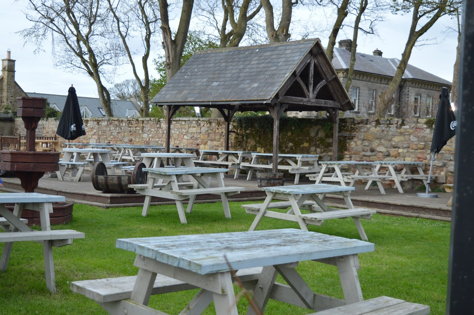 The Craster Arms, Beadnell | A Review featuring a very good Northumberland Country Pub.  - large beer garden