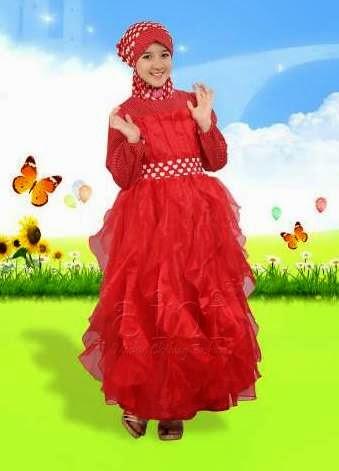 Model baju gamis anak terbaru trendy