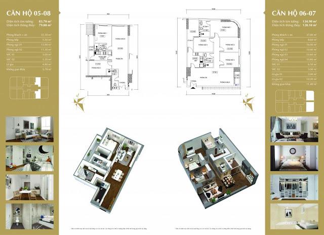 Thiết kế căn hộ 05-18 và 06-07 Imperial Plaza