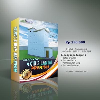Desain Bangunan Walet 4x10 3 Lantai Premium