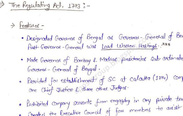 Indian Polity Handwritten Notes