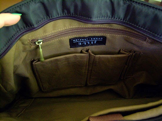"Jill-e Designs Sasha 15"" Laptop Bag small inner pockets"