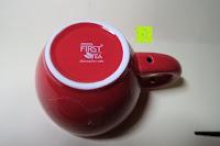 Tasse unten: Porzellan Teekannenservice von Original First Tea (Rot)