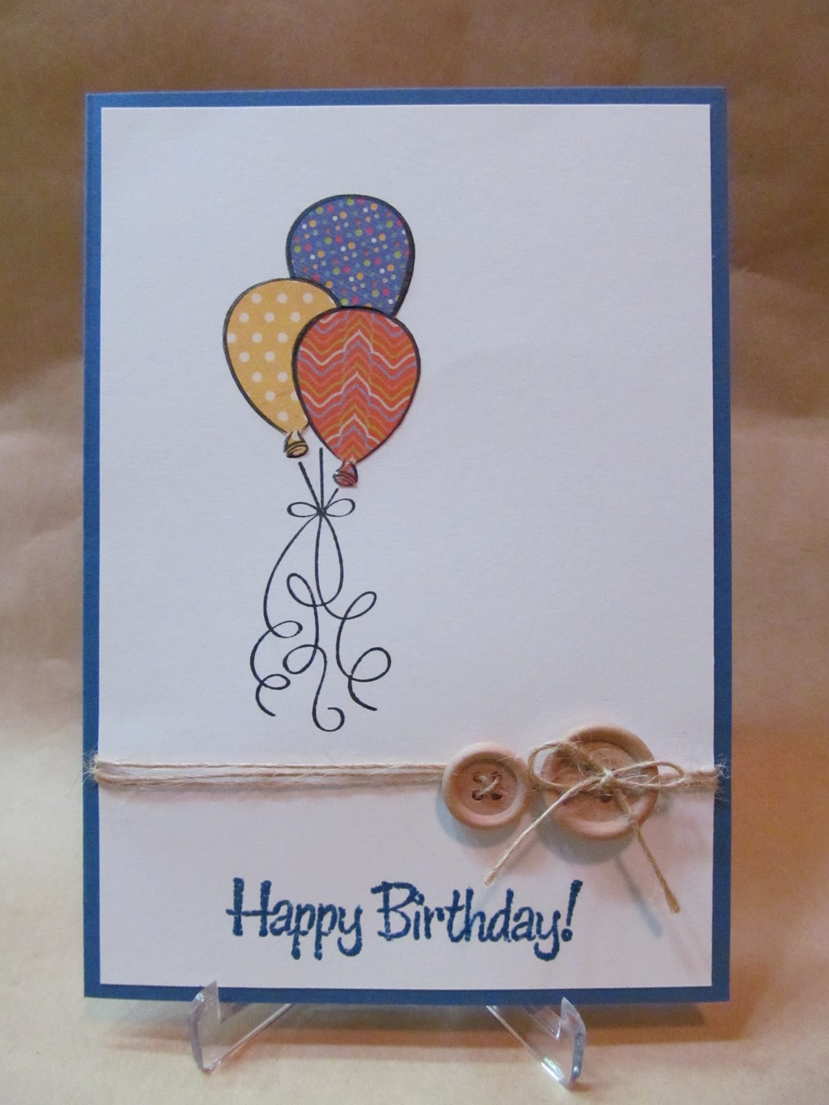 savvy handmade cards balloons birthday card