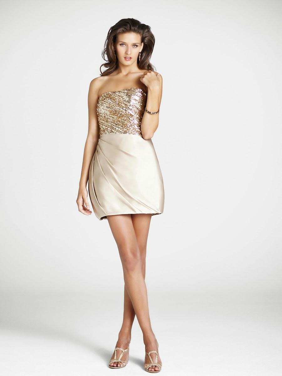 Vestidos para fiesta sencillos y elegantes cortos