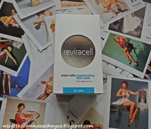 Revitacell, stem cells, regenerating face balm for men