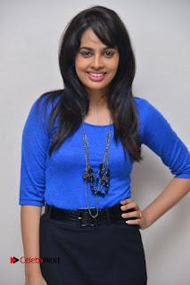 Nandita Swetha Stills in Black Mini Skirt at Ekkadiki Potavu Chinnavada Movie Special Show