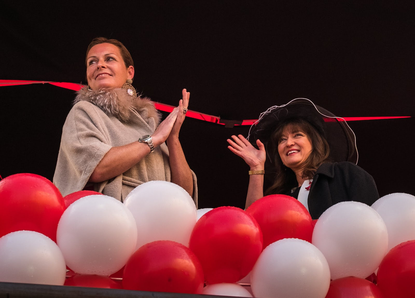 Dr. Princess Stephanie Löwenstein-Wertheim-Rosenberg, left, and Debbie Wiseman MBE honored as godmothers of the new Viking Longships. Photo: © Viking Cruises. Unauthorized use is prohibited.