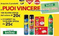 Logo ''Vinci con SC Johnson - buoni spesa Ipersoap'' da 20€ e da 250€