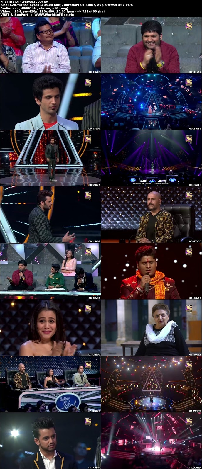 Indian Idol Season 10 01 December 2018 WEBRip 480p 300Mb  world4ufree.fun tv show Indian Idol Season 10 hindi tv show Indian Idol Season 10  Sony Set  tv show compressed small size free download or watch online at world4ufree.fun