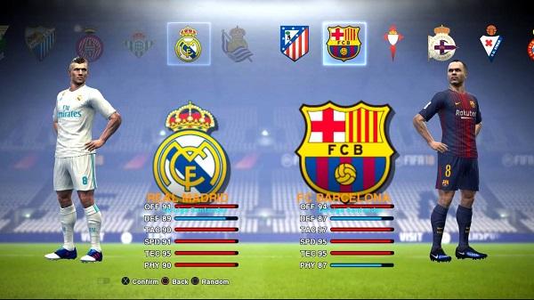 PES 2013 GRAFIK MENU FIFA 18 STYLE