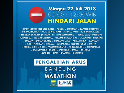Rute West Java Marathon 2018