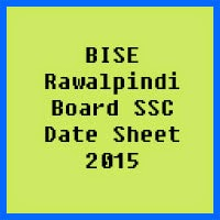 SSC Date Sheet 2017 BISE Rawalpindi Board