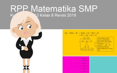 Donload RPP Matematika SMP Kurikulum 2013 Kelas 8 Revisi 2016