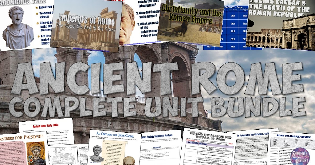 students of history ancient rome lesson bundle almost 50 activities to teach about rome. Black Bedroom Furniture Sets. Home Design Ideas
